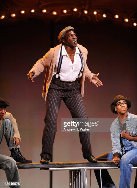 The cast of 'The Scottsboro Boys'' perform on stage during the 65th Annual Tony Awards at the Beacon Theatre on June 12 2011 in New York City