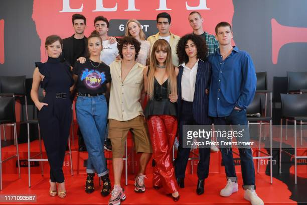 The cast of the serie attends 'Elite' photocall on August 29 2019 in Madrid Spain