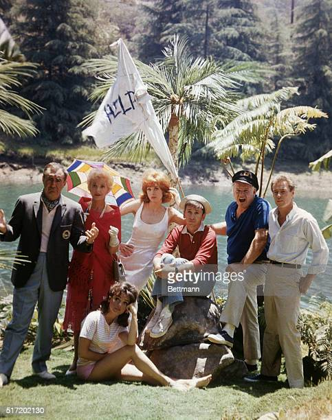 The cast of the television show Gilligan's Island that ran from 1964 to 1967 Left to right Thurston Howell III Lovey Howell Mary Ann Summers Ginger...