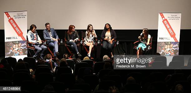 The cast of the television show Nolan Sotillo Dave Annable Margaret Nagle Ciara Bravo Octavia Spencer and moderator Julie Chang speak during Fox's...