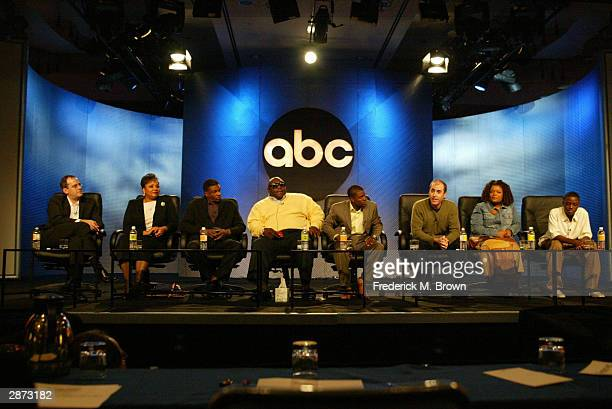 The cast of the television show 'The Big House' attends the ABC 2004 Winter Press Tour at the Hollywood Renaissance Hotel on January 15 2004 in...