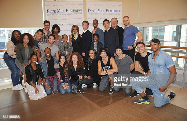 The cast of the 'The Bodyguard The Musical' Cast Photocall Douglas Baldeo Arielle Campbell Brandon Chan Alex Corado Deborah Cox WIllie Dee Jarid...