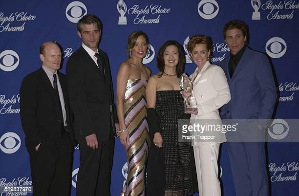The cast of the TV series 'ER' Paul McCrane Goran Visnjic Michale Michele MingNa Laura Innes and Erik Palladino 'ER' won the award for 'Best Drama...