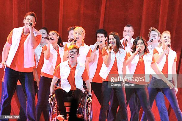The cast of the TV show 'Glee' perform at at Air Canada Centre on June 11 2011 in Toronto Canada