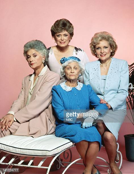 The cast of the US sitcom, 'The Golden Girls', 22nd April 1985. Clockwise, from left: Bea Arthur, Rue McClanahan, Betty White and Estelle Getty....