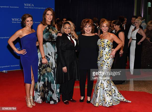 The cast of The View Paula Faris Michelle Collins Raven Symone Joy Behar and Candace CameronBure attend the 102nd White House Correspondents'...