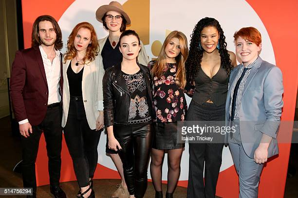 The cast of the web series Carmilla attend the Canadian Screen Week Presents #AcademySocial on March 10 2016 in Toronto Canada