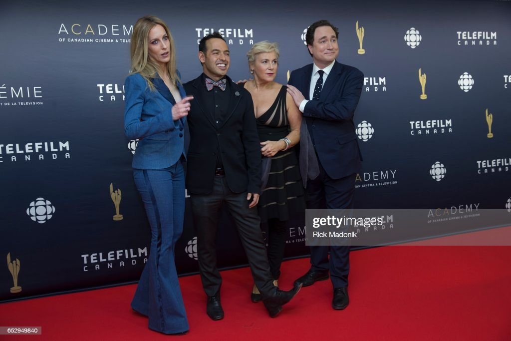 The cast of This Hour has 22 Minutes, from left, Susan Kent, Shaun Majumder, Cathy Jones and Mark Critch. Canadian Screen Awards red carpet at Sony Centre for the Performing Arts ahead of the show.