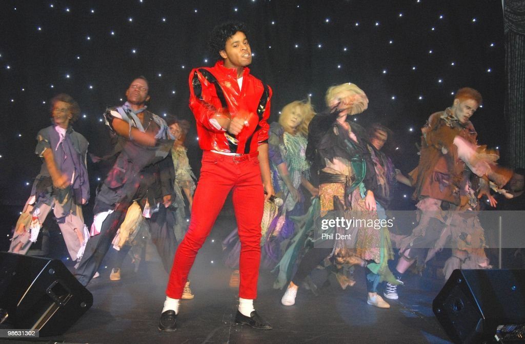 The cast of Thriller - Live performs on stage at the Dorchester on March 13th 2010 in London.