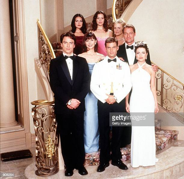 The cast of Titans The show will air on Wednesdays on NBC Back row Elizabeth Bogush Priscilla Garita and Josie Davis Middle row Victoria Principal...