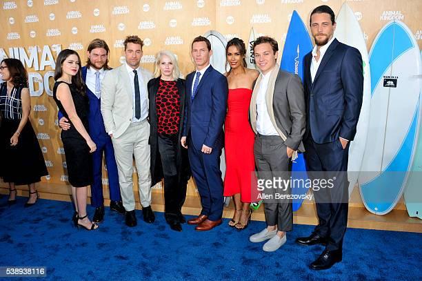 The cast of TNT's Animal Kingdom attend the premiere of TNT's Animal Kingdom at The Rose Room on June 8 2016 in Venice California