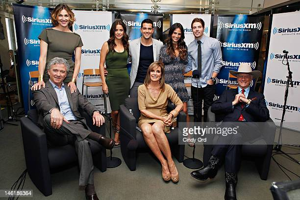 The cast of TNT's Dallas sit down for an interview on SiriusXM's Morning Jolt with Larry Flick at the SiriusXM Studio on June 11 2012 in New York City