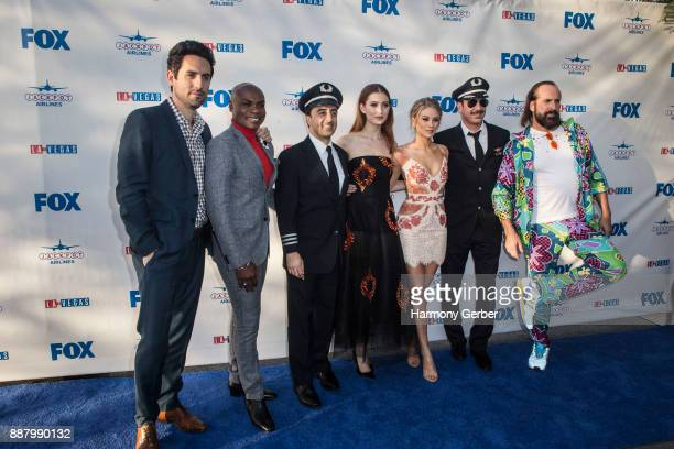 The cast of LA to Vegas attend the Premiere Of Fox's LA To Vegas at LAX Airport on December 7 2017 in Los Angeles California