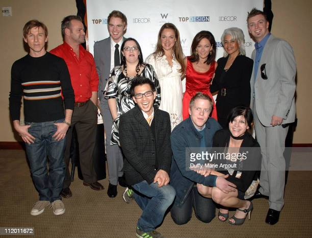 The Cast of Top Design during Bravo's Top Design Finale Party Hosted by Todd Oldham at W HOTEL in New York City New York United States