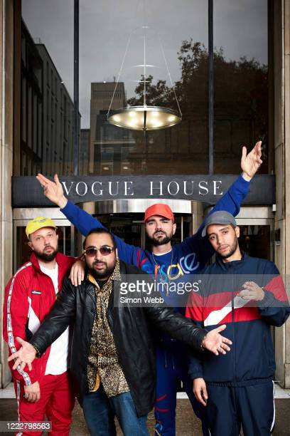 The Cast of tv comedy series People Just Do Nothing are photographed for GQ magazine on April 23 2019 in London England