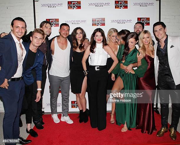 The cast of Vanderpump Rules, Peter Madrigal, James Kennedy, Tom Schwartz, Jax Taylor, Katie Maloney, Lisa Vanderpump, Stassi Schroeder, Kristen...