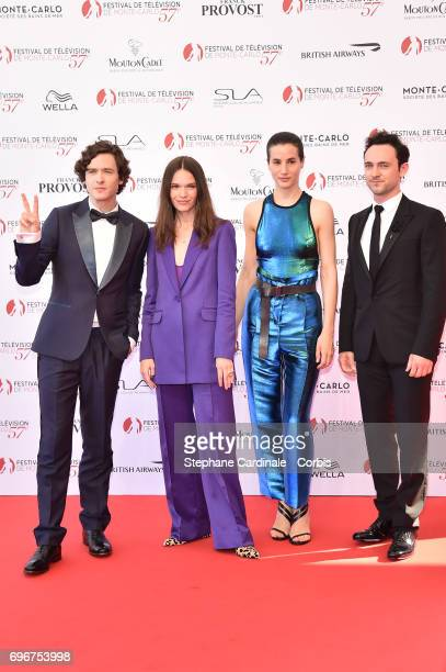 The Cast of 'Versailles' Alexander Vlahos Anna Brewster Elisa Lasowski and George Blagden attend the 57th Monte Carlo TV Festival Opening Ceremony on...