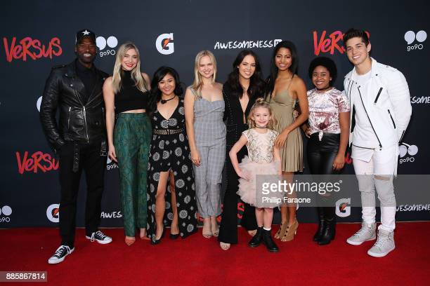The cast of Vervus attends AwesomenessTV's 'Versus' event in partnership with Gatorade at Awesomeness HQ on December 4 2017 in Santa Monica...