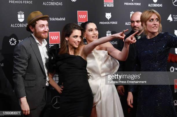 The cast of ' Vida perfecta' tv show attends Feroz awards 2020 red carpet at Teatro Auditorio Ciudad de Alcobendas on January 16, 2020 in Madrid,...
