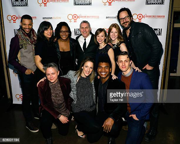 The cast of 'Waitress' attends the Adrienne Shelly Foundation 10th Anniversary Gala at The Angel Orensanz Foundation on December 5 2016 in New York...