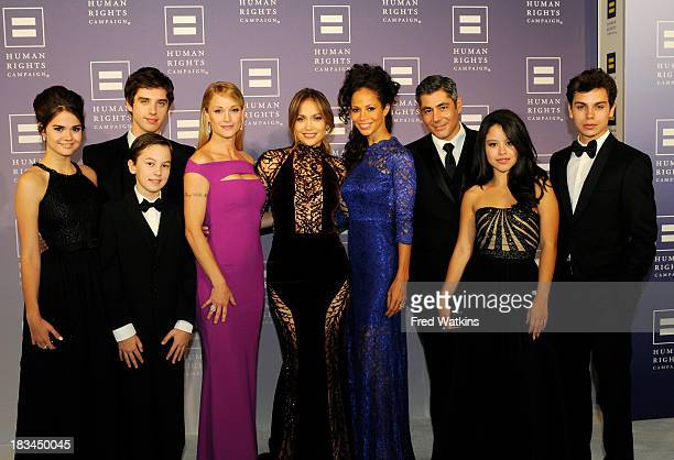 """The cast of Walt Disney Television via Getty Images Family's hit series """"The Fosters"""" attended the Human Rights Campaign's National Dinner honoring..."""