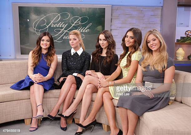 AMERICA The cast of ABC Family's 'Pretty Little Liars' are guests on 'Good Morning America' 3/18/14 on the ABC the Television Network