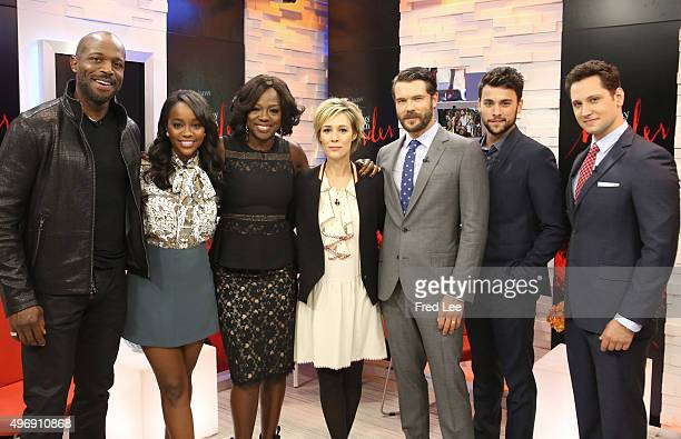 AMERICA The cast of Walt Disney Television via Getty Images's How to Get Away With Murder are guests on Good Morning America 11/12/15 airing on the...