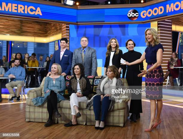 AMERICA The cast of ABC's Roseanne are guests on Good Morning America Monday March 26 airing on the ABC Television Network MICHAEL