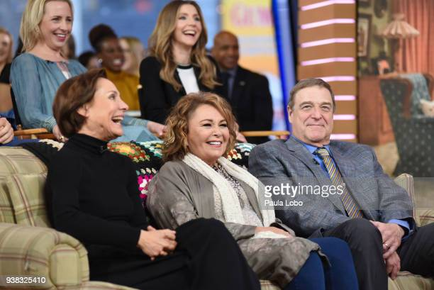 AMERICA The cast of ABC's 'Roseanne' are guests on 'Good Morning America' Monday March 26 airing on the ABC Television Network LECY