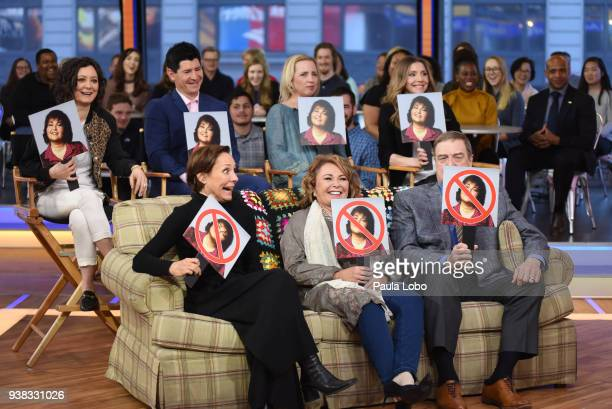 AMERICA The cast of Walt Disney Television via Getty Images's Roseanne are guests on Good Morning America Monday March 26 airing on the Walt Disney...