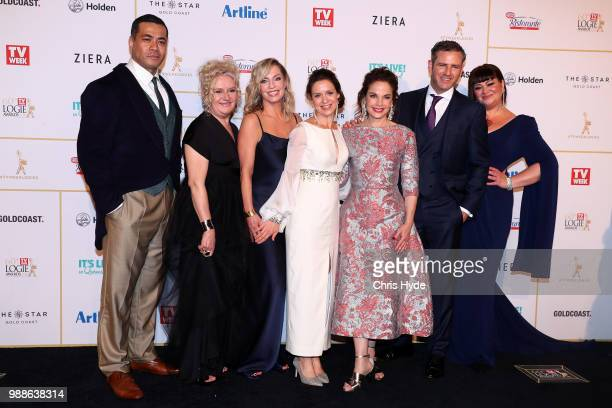 The cast of Wentworth arrive at the 60th Annual Logie Awards at The Star Gold Coast on July 1 2018 in Gold Coast Australia