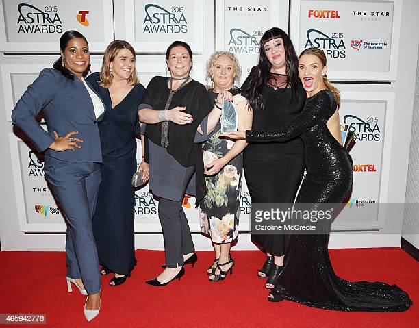 The cast of Wentworth pose with the award for Most Oustanding Drama Australian at the 2015 ASTRA Awards at the Star on March 12 2015 in Sydney...