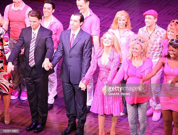 The cast perform during the press night of Legally Blonde to introduce new cast member Richard Fleeshman on June 28 2010 at the Savoy Theatre in...