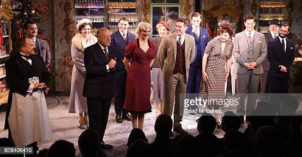 The cast poses at the curtain call at the press night performance of She Loves Me at Menier Chocolate Factory on December 7 2016 in London England