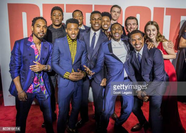The cast poses during the 'Detroit' world premiere at Fox Theatre on July 25 2017 in Detroit Michigan