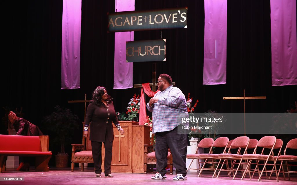The cast rehearsal of Agape Love Musical Stage Play on January 13, 2018 in Milwaukee, Wisconsin.