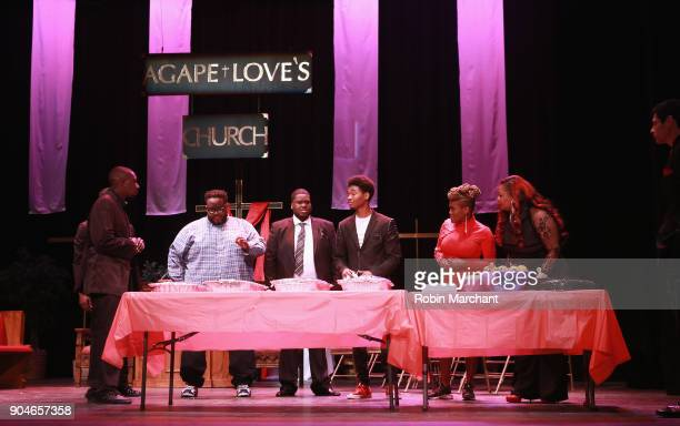 The cast rehearsal of Agape Love Musical Stage Play on January 13 2018 in Milwaukee Wisconsin