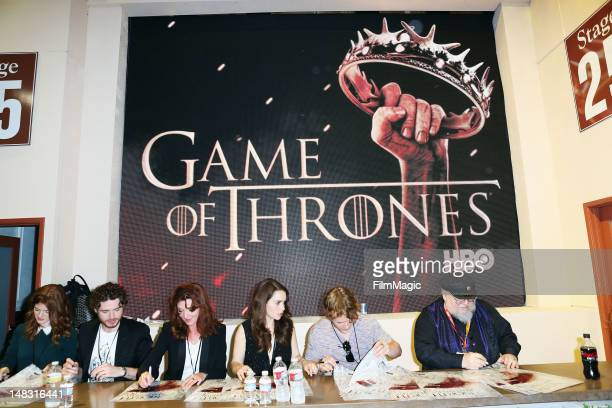 The cast sign autographs during HBO's Game Of Thrones during ComicCon International 2012 at San Diego Convention Center on July 13 2012 in San Diego...