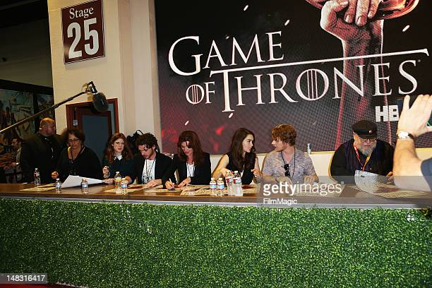 The cast sign autographs for HBO's 'Game Of Thrones' during ComicCon International 2012 at San Diego Convention Center on July 13 2012 in San Diego...