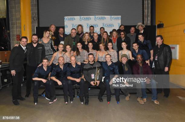 The Cast takes photos before the second annual An Evening Of Scott Hamilton Friends hosted by Scott Hamilton to benefit The Scott Hamilton CARES...