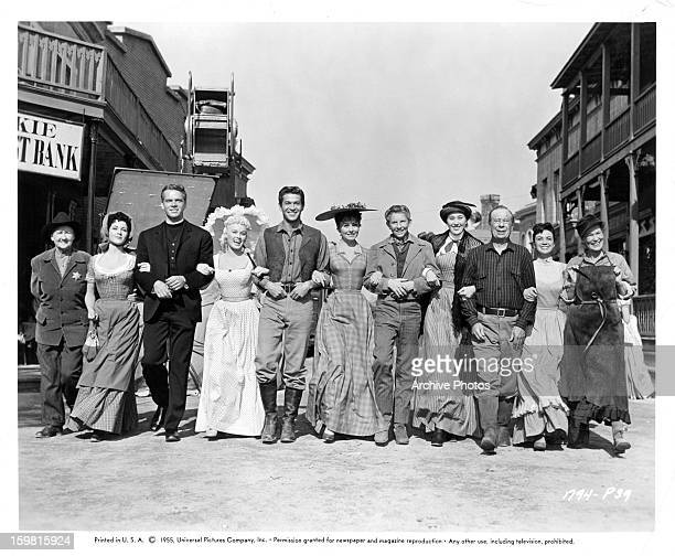 Mary Marlo Kathleen Case Keith Andes Mamie Van Doren George Nader Jeanne Crain Jimmy Boyd Edna Skinner Bert Lahr Kitty Kallen and Cousin Emmy in a...