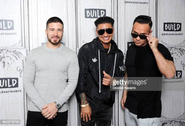 The cast Vinny Guadagnino, Paul 'Pauly D' Delvecchio and Mike 'The Situation' Sorrentino visit Build series to discuss 'Jersey Shore Family Vacation'...
