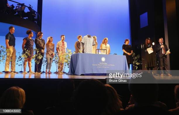 The cast with Smithsonian Associate Director of Cultural Affairs Catherine Eagleton Producer Stacey Mindich and Smithsonian Curator of Entertainment...