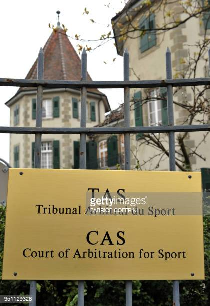 The castel of Bethusy hosting the head office of the Court of Arbitration for Sport is seen on April 2 2008 in Lausanne AFP PHOTO / FABRICE COFFRINI