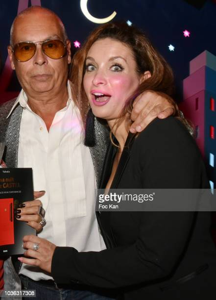 The Castel Roman de la Nuit 2018 awarded writer Valentin Cheron and actress Regina Rebecca attend 'Ma Nuit Chez Castel' Book Signing at Castel on...