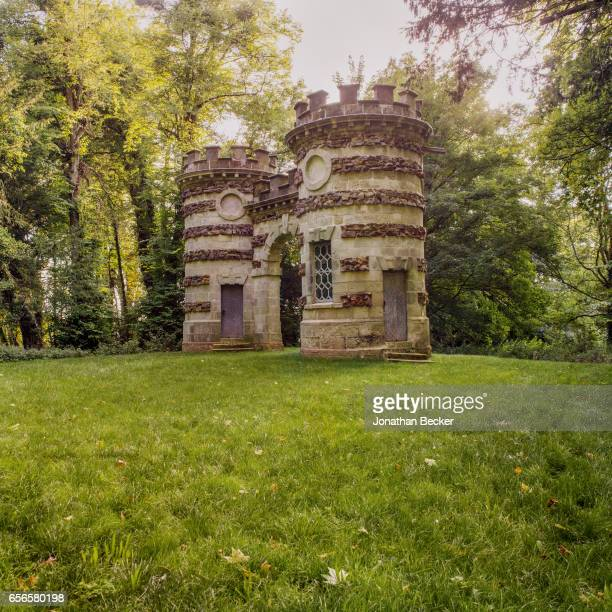 The Castellated Arch at St Giles House is photographed on September 9 2015 in Dorset England