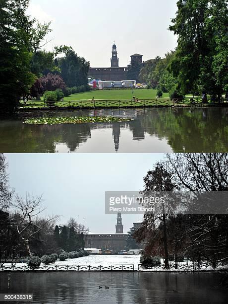 CONTENT] The Castello Sforzesco seen from the Parco Sempione Milano Italy