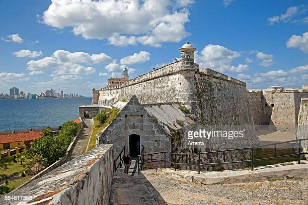 The Castillo del Morro / Morro Castle / Castillo de los Tres Reyes Magos del Morro fortress guarding the entrance to Havana bay Cuba