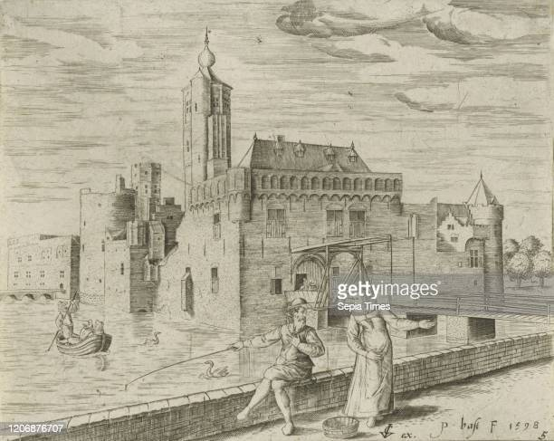 The castle Aldegonde, Bornem Castle, Marnix de Sainte-Aldegonde Castle, Bornem, province of Antwerp, Belgium.