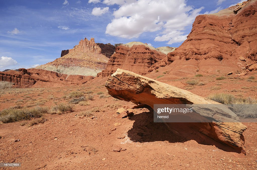 The Castle at Capitol Reef National Park : Stock Photo